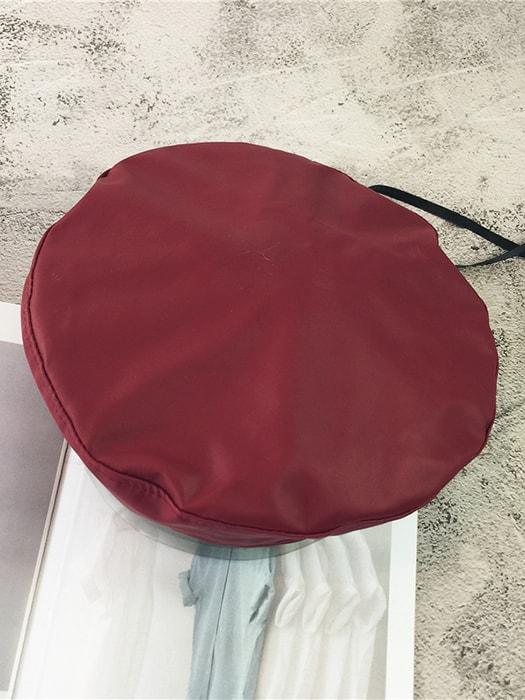 PU Faux Leather Chic Beret
