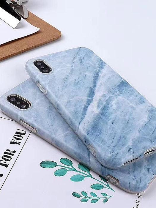 ALMOST REAL Ice Blue Marble Phone Case