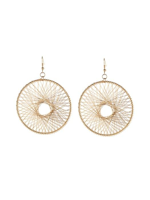 Dream Catcher Metal Hoop Earrings