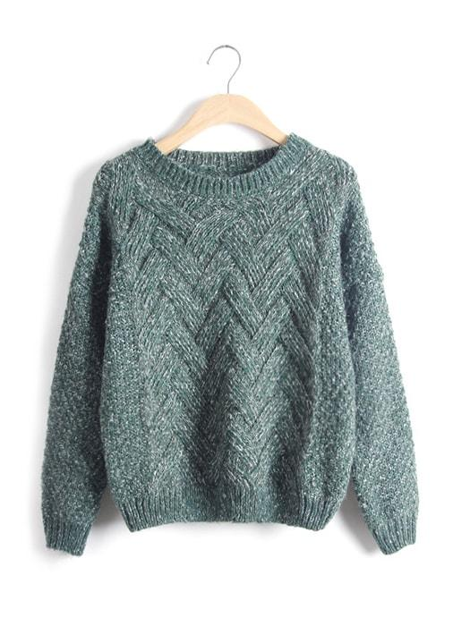 Solid Color Knit Sweater