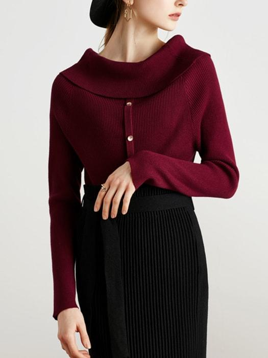 One-shoulder Knit Top
