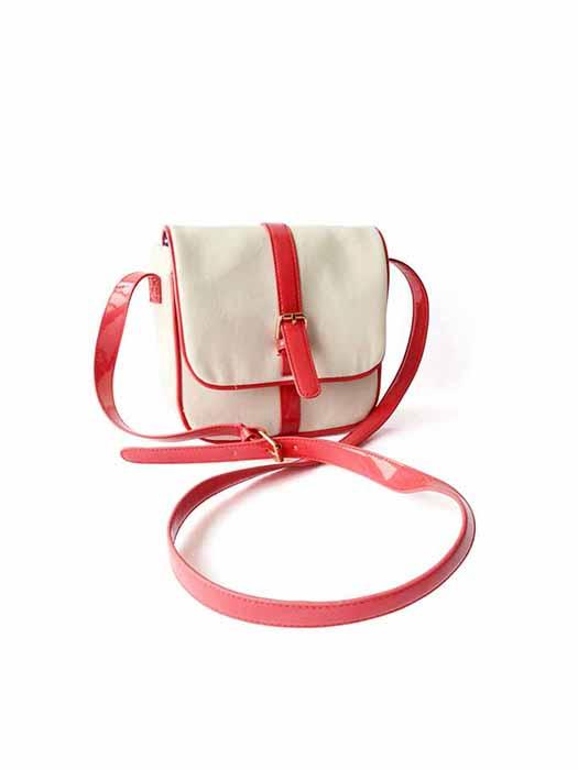 Color Block Cross Body Bags In Red And White