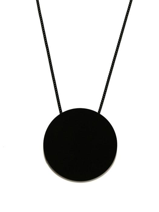 Acrylic Round Disc Drop Sweater Chain
