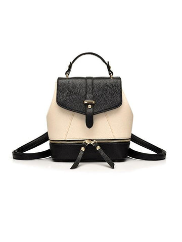 Stylish Hoop Buckle Faux Suede Backpack