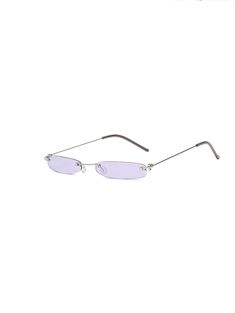Street Style Rectangular Sunglasses