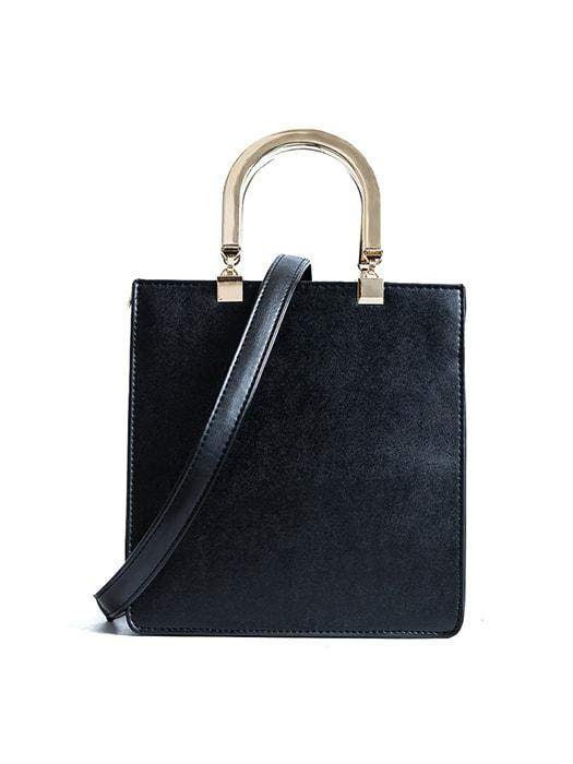 Structured Quality PU Metal Handle Tote Bag