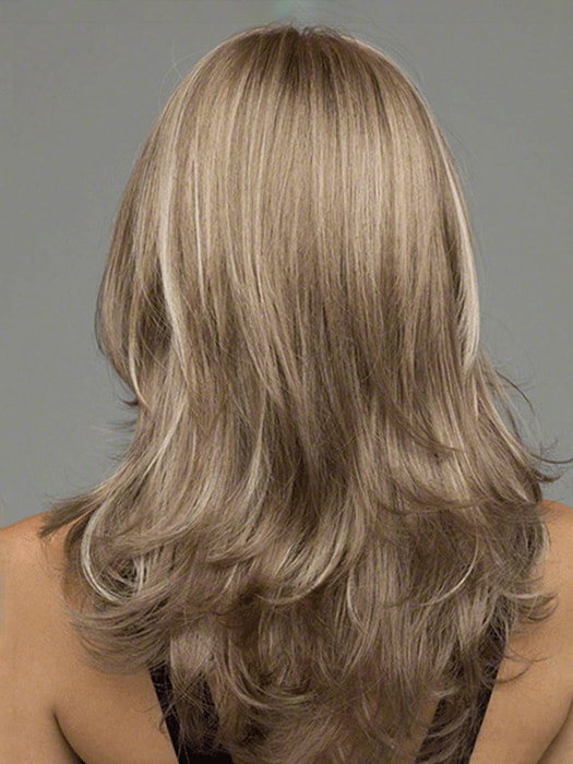 Ash Blonde Outward Curls Long Hair Wig