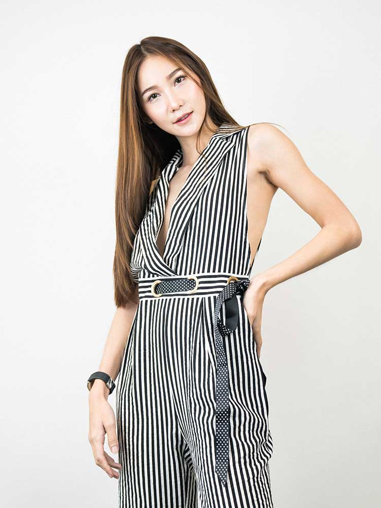OL Style Striped Jumpsuit