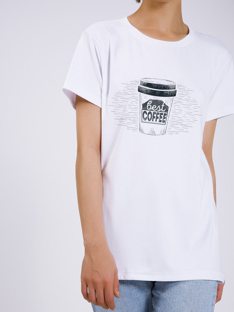 A Cup of Coffee Printed T-shirt