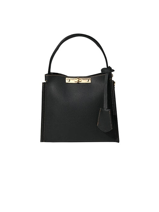 Classic Twist Lock Shoulder Bag with Removable Purse