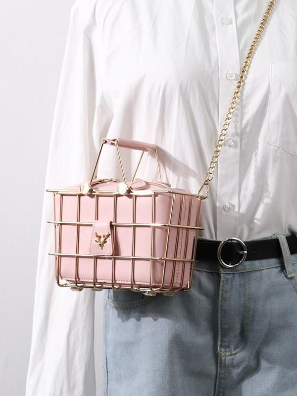 Basket Design Cross Body Bags