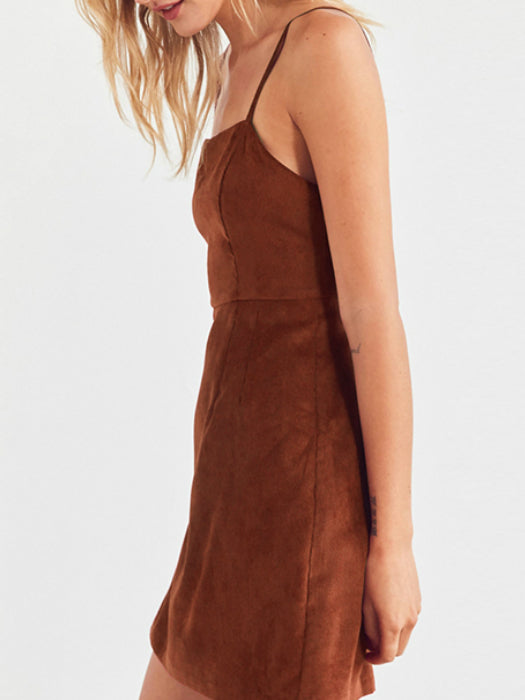 Cord High-waisted Slip Dress
