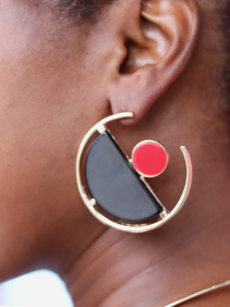 Unique Super-big Size Statement Round Hoop Earrings