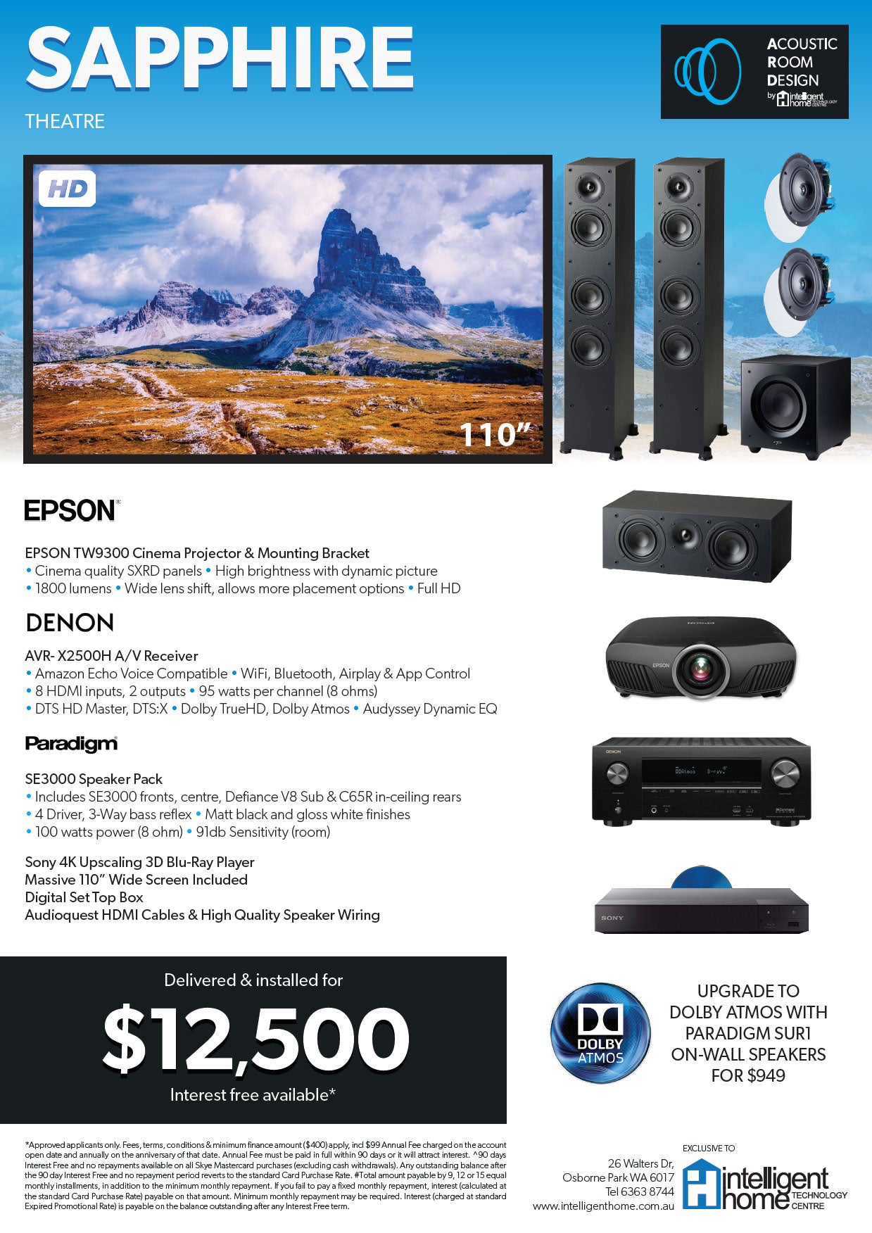 HOME THEATRE PACKAGES - Intelligent Home Technology Centre