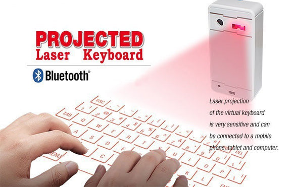 Wireless Bluetooth Laser Keyboard and Mouse
