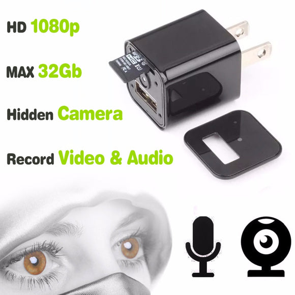USB Charger/Nanny Camera 1080P 32G