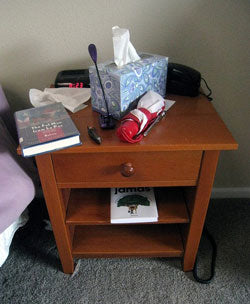 nightstand potentially hiding a dildo