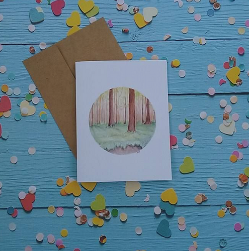 Enchanted Forest - Note Card