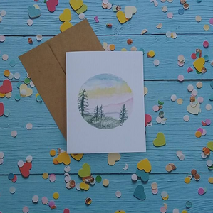 Pastel Mountains - Note Card