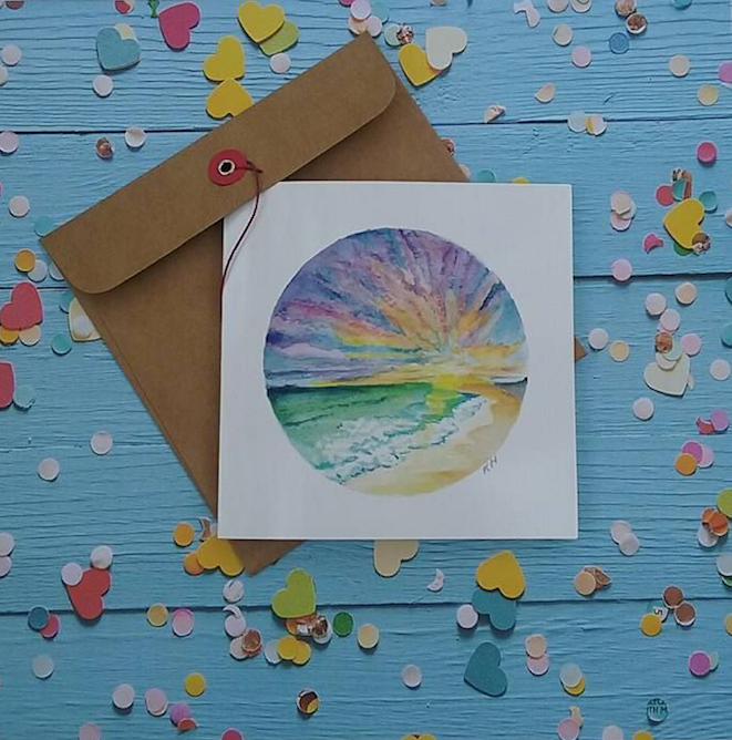 Sunset Beach - Card
