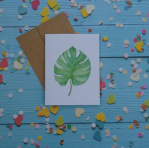 Tropical Leaf - Note Card