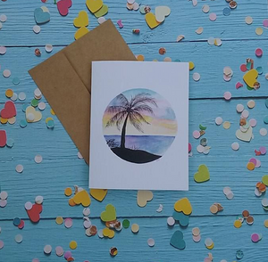 Tropical Paradise - Note Card