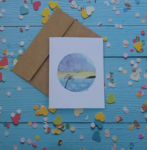 Storm in Paradise - Note Card