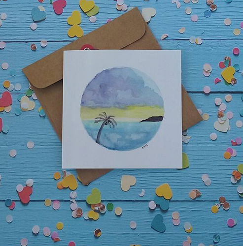 Storm in Paradise - Card