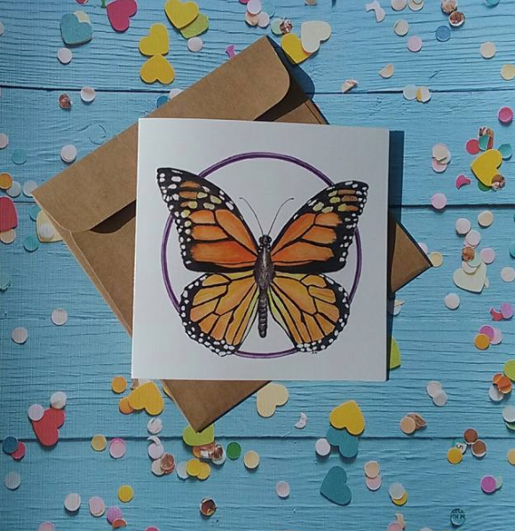 Monarch Butterfly - Card