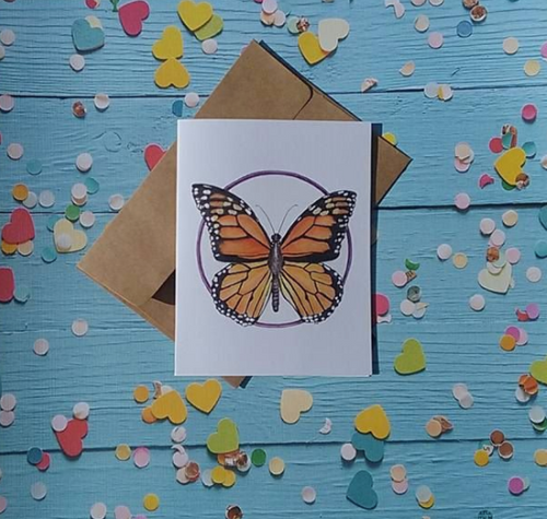 Monarch Butterfly - Note Card