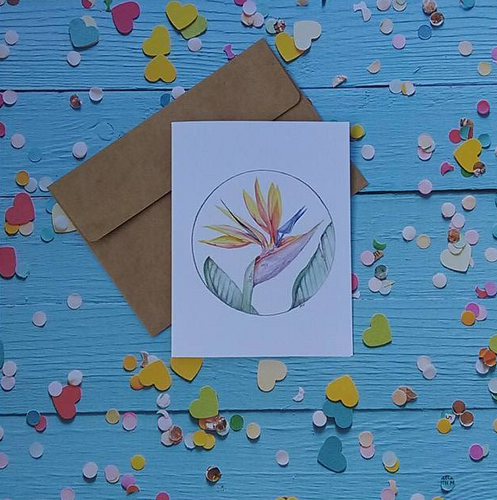 Bird of Paradise - Note Card