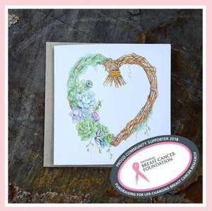 Love Heart Wreath - Card