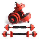 2 in 1 adjustable dumbbell and barbell