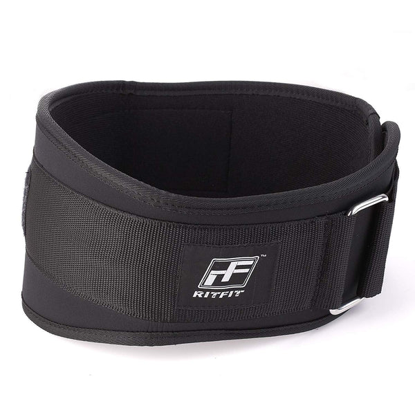 RitFit 6-Inches Low Profile Weightlifting Belt|RitFit Fitness RitFit S(22''-29'') Black