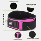 RitFit 6-Inches Weightlifting Belt for Women|RitFit Fitness Workout Accessories RitFit