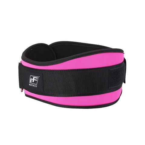 RitFit 6-Inches Weightlifting Belt for Women|RitFit Fitness Workout Accessories RitFit M(32-36'') Pink
