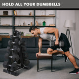 RitFit A-Frame Dumbbell Rack Stand 3 OR 5 Pairs Weight Rack | Home Gym Dumbbells Storage RitFit