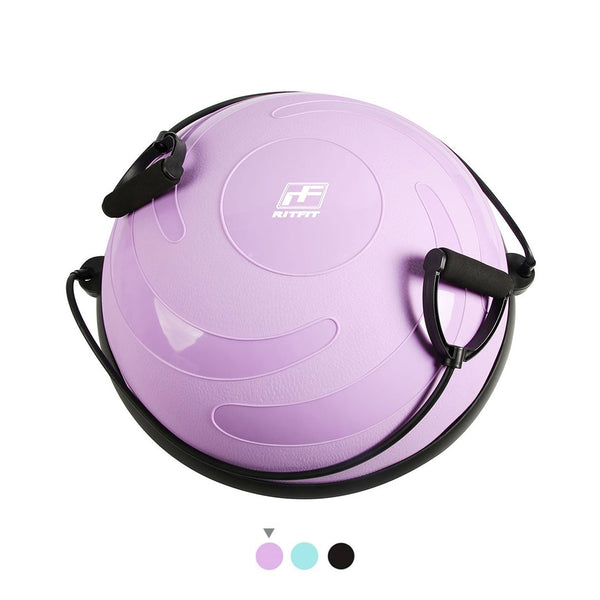 RitFit Balance Ball, Bosu Ball with Resistance Bands-Pastel|Free Workout Resources! RitFit