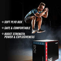 RitFit Classic 3 in 1 Extra Firm Soft Plyo Box for Plyometric Training with 440lbs Capacity RitFit