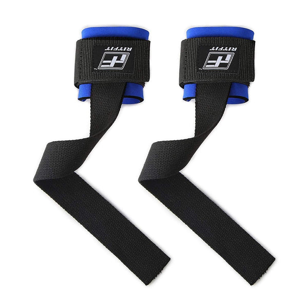 RitFit Lifting Straps + Wrist Protector For Weightlifting, Bodybuilding RitFit Blue