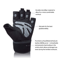 RitFit Padded Anti-Slip Weight Lifting Gym Gloves RitFit