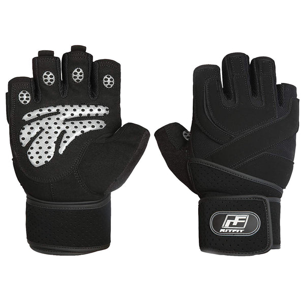 RitFit Padded Anti-Slip Weight Lifting Gym Gloves RitFit XL
