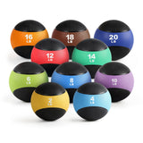 RitFit Rubber Medicine Wall Ball Weights | 2-20lbs with Color Coded | for CrossFit, Functional Training at Home, Gym and Garage RitFit