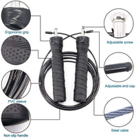 RitFit Speed Jump Rope with Anti-Skid Handles | For Home Cardio and Agility Strengthen RitFit