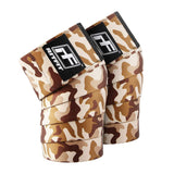 brown camouflage knee wraps