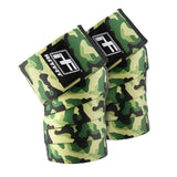 green camouflage knee wraps