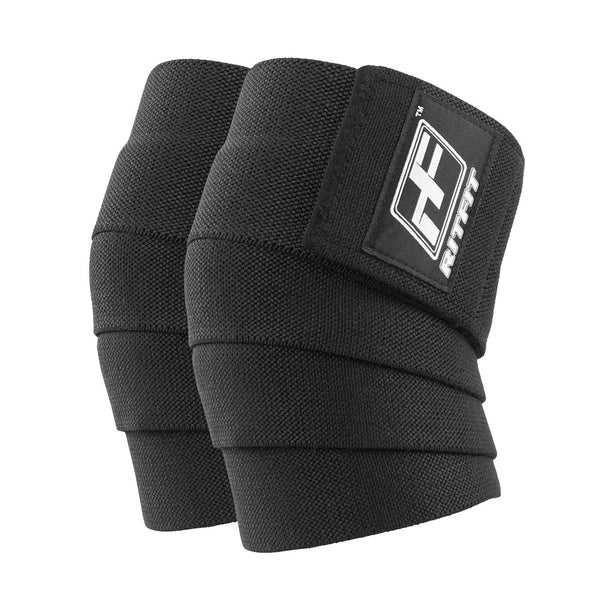 RitFit Weightlifting Knee Wraps Workout Accessories RitFit Black