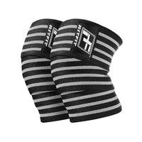 RitFit Weightlifting Knee Wraps Workout Accessories RitFit Gray