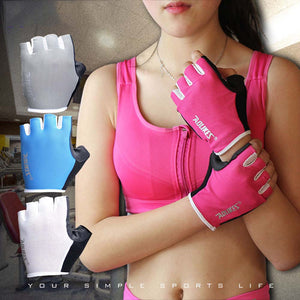 1 Pair Women/Men Anti-skid Breathable Gym Gloves - T
