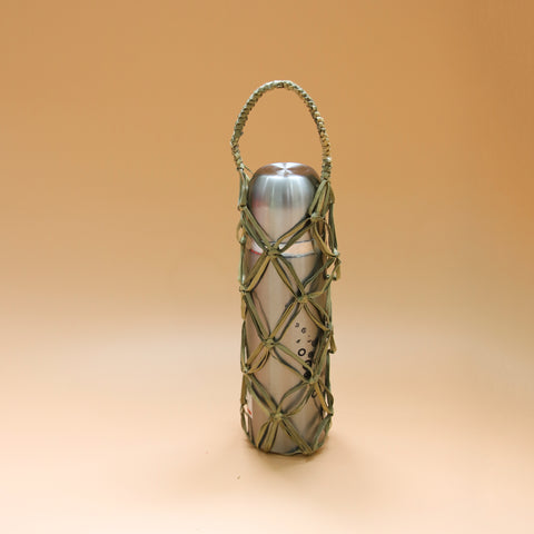 Image of AZ Exclusive Handmade Seagrass Straw Water Bottle Pouch - LTL009